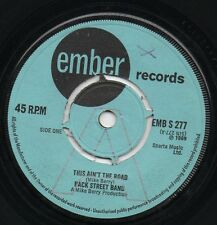 BACK STREET BAND this ain't the road 1969 UK EMBER PROMO 45 MIKE BERRY