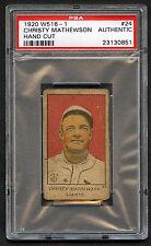 1920 W516-1 Christy Mathewson #24 PSA Authentic Hand Cut HOF NY Giants (814-1)