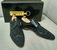 ZILLI Genuine Leather/Suede Men's Black Shoes sz 6/41