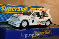 Slot SCX Scalextric Superslot H3306 MG Metro 6R4 Nº8 Per Ekland/Dave Whittock