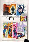 Original 1983 Captain America Annual 7 page 26 Marvel Comics color guide art/80s
