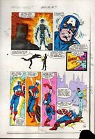 Original 1983 Captain America Annual 7 page 26 Marvel Comics color guide art/80s