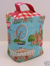 HANDCRAFTED DOORSTOP in CATH KIDSTON FABRICS London and LAURA ASHLEY Red Gingham