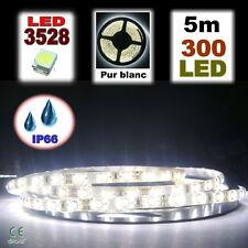 841/5# Ruban LED Blanc étanche 300LED 5m très lumineux