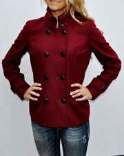 New Womens Sean John Red Cranberry Wool Coat Peacoat Jacket XXL 2XL