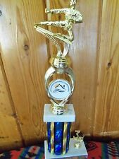 Karate Martial Arts Lot White Marble Interchangeable Parts Mounts Trophy Award
