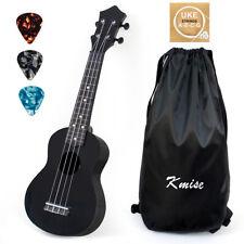 More details for soprano ukulele christmas toy for kids 21 inch black uke with bag picks string