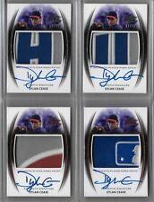 2014 Leaf Trinity Dylan Cease Bronze MLB Logo Patch Auto RC Dodgers - BR