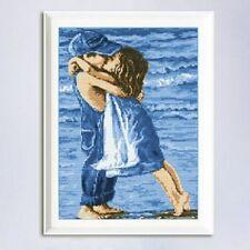 Stickbild Küsschen Stickpackung 29 x 43 cm Kinder Junge Mädchen Zählmuster Neu