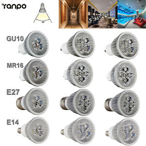 Dimmable LED Spot Light Bulb GU10 MR16 E27 E14 9W 12W 15W Lamp Ultra Bright CREE