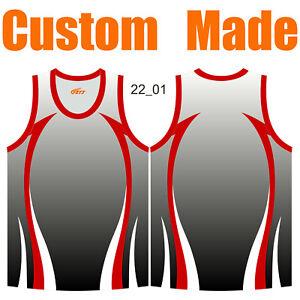 Custom Gradient Colour Athletic Singlets Mens Ladies Kids Running Tank Top 22