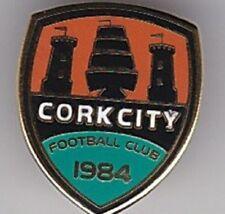CORK CITY 1984 SHIELD IRELAND IRISH FOOTBALL BADGE