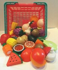 Play Circle By Battat Basket of Toy Fruit & Veggies 38 Pieces