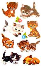 Cat & kitten autocollants enfants carte de faire des étiquettes de décoration pour enfants 369