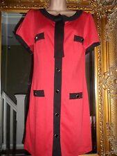 Entièrement neuf sans étiquette new George noir rouge jackie kennedy années 40 robe style taille 12