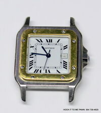 CARTIER SANTOS 1172961 AUTOMATIC MENS 29mm  18K & STEEL HEAD ONLY