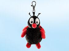 Rudolph Schaffer Buggy Ladybird Keyring - SC202,  Red & Black Metal & Plush