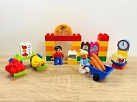 LEGO Duplo My First Supermarket Fruits Bread Groceries Wheelbarrow Set 6137