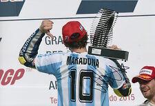 VALENTINO Rossi firmato a mano Yamaha 12X8 foto MOTOGP AUTOGRAFO a prova di 14.