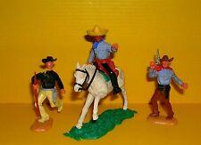 Timpo 3x Cowboy G2 Reiter Pferd Wildwest Western Figur Gangster Toys (16)
