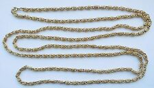"Vintage 60"" Long Gold Filled Napier Paperclip Necklace 68.6G no damage"