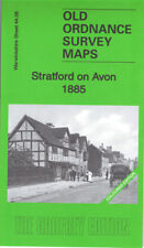 OLD ORDNANCE SURVEY MAP STRATFORD UPON AVON 1885 COLOURED EDITION