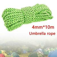 10m*4MM Outdoor Windproof Reflective Tent Rope Covered Parachute Rope Hot