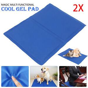 2x Pet Self Cooling Gel Mat Cool Mat For Dogs Cats Pad Bed Mattress Heat Relief