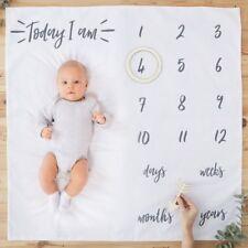 Ginger Ray Baby Milestone Photoshoot Blanket Baby Shower Christening Gift