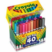 Crayola Washable Markers Broad Point Assorted Classic Colors 40/Set 587858