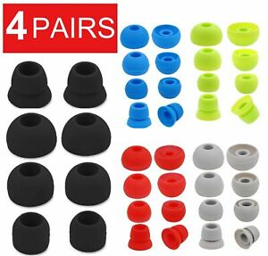 4-Pair Replacement Ear Tips Ear Buds For Beats By dr Dre Powerbeats 2 3 Wireless