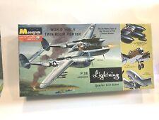 "1964 MONOGRAM WW11 TWIN BOOM FIGHTER P-38 LOCKHEED, 1/4"", PA97-200"