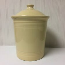 1st Quality Fiesta Ivory Large Canister 3 Quart Fiestaware