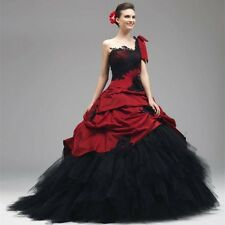 One Shoulder Formal Masquerade Ball Prom Gown Evening Quinceanera Dresses Custom
