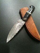 "Damascus Steel Hunting Knife Handmade Skinner 9"" Overall And 4.5"" Blade 1008"
