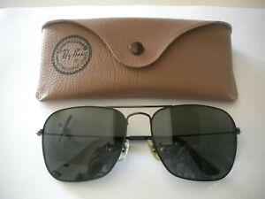 Men's New Vintage Genuine Bausch & Lomb Ray-Ban Sunglasses -Black Frame