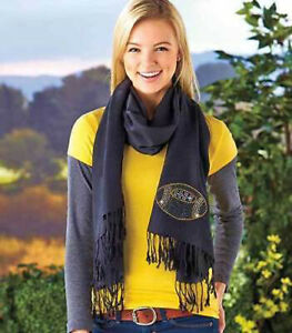 Women's Football Bling Pashmina Scarf Support Local Football Team Scarves - 1267