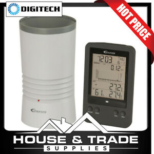 Digitech Digital Rain Gauge with Temperature XC-0430