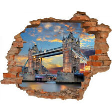 Wandsticker 3D-Optik Tower Bridge Breakthrough Wandaufkleber 100 x125 cm