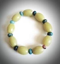 Bracelet Beads Bangle Yellow Jade Germstone Stretch