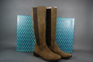 Tory Burch Boots Christy 30mm Boots Flats Lan Grey Coconut Suede 6.5 NIB