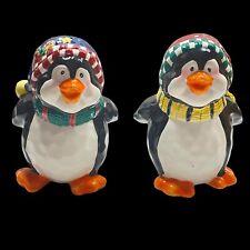 "Bico China Christmas Penguins Ceramic Salt & Pepper Shakers Holiday 4""T"