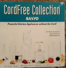SANYO CordFree Collection Grater-Blender-Chopper-S & P Mill-Can Opener ALL 5 NEW
