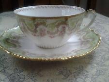 Limoges Tea Cup and Saucer, Higgins & Seiter, Vintage