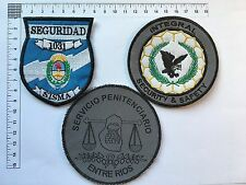 3 ORIGINAL PENITENTIARY POLICE SECURITY SAFETY PATCHES PATCH ARGENTINA 80s 90s