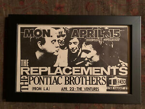 VINTAGE Replacements Paul Westerberg Promotional Billing Poster Pontiac Brothers
