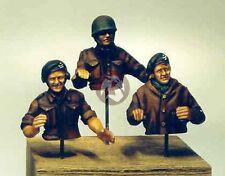 Resicast 1/35 British Tank Crew in Summer 1944 WWII (3 Half-Figures) 355511