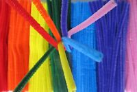 100 Coloured Pipe Cleaners Chenille Stems Craft Colours Assorted 6 Inches