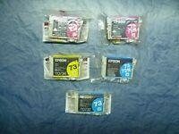 5 x Original Epson 73 73N  T0732 N cyan T0733 N  magenta T0734 gelb