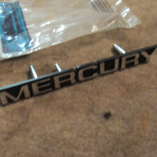 """NOS 1983 - 1986 MERCURY MARQUIS GRILL GRILLE OPENING """"MERCURY"""" EMBLEM NAMEPLATE"""